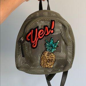 Green Mesh Mini Backpack